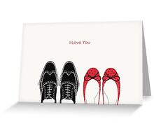 Stylish Shoes - Love and Romance Greeting Card