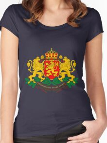 BULGARIA-COAT OF ARMS Women's Fitted Scoop T-Shirt