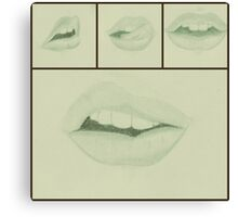 Lips ( mint green) Canvas Print