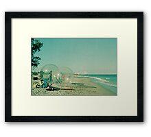 Beach Balls Framed Print