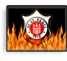 FC ST Pauli Fire Shield Design Canvas Print
