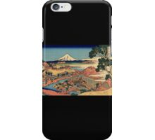 'The Tea Plantation' by Katsushika Hokusai (Reproduction) iPhone Case/Skin