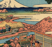 'The Tea Plantation' by Katsushika Hokusai (Reproduction) Sticker