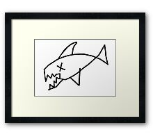 Flipper. Framed Print
