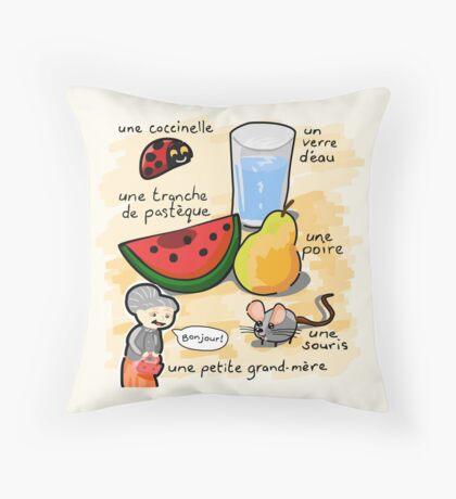 La petite grand-mère et ses amis Throw Pillow