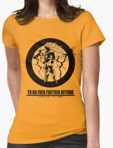 Super Saiyan 3 ascension Womens Fitted T-Shirt