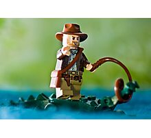 Indiana Jones with an Alligator Photographic Print