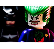 Joker and Batman Photographic Print