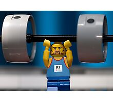Weight Lifting Photographic Print