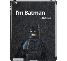 I'm Batman - Batman. iPad Case/Skin