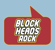 Block Heads Rock by Bubble-Tees.com One Piece - Short Sleeve