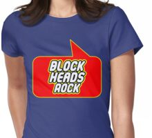 Block Heads Rock by Bubble-Tees.com Womens Fitted T-Shirt