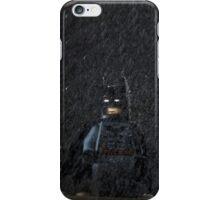 Batman in a storm iPhone Case/Skin