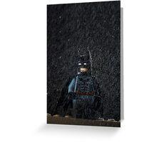 Batman in a storm Greeting Card