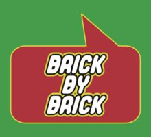 Brick by Brick by Bubble-Tees.com Kids Tee