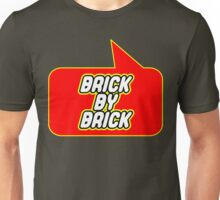 Brick by Brick by Bubble-Tees.com Unisex T-Shirt