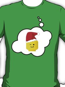 Santa Minifig Head by Bubble-Tees.com T-Shirt