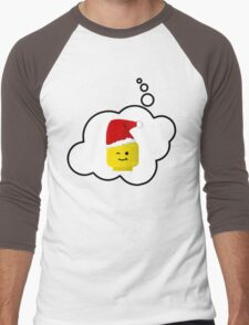 Santa Minifig Head by Bubble-Tees.com Men's Baseball ¾ T-Shirt
