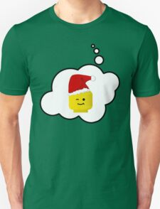 Santa Minifig Head by Bubble-Tees.com Unisex T-Shirt