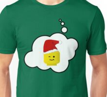 Santa Minifig Head by Bubble-Tees.com Unisex T-Shirt