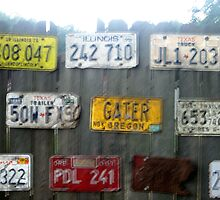 """Gater"" Plate on Fence by lcjane"