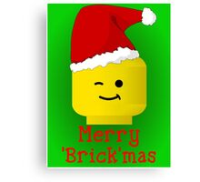 Merry Christmas Santa Minifig by Customize My Minifig Canvas Print