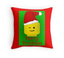 Merry Christmas Santa Minifig by Customize My Minifig Throw Pillow