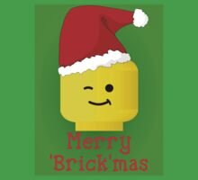 Merry Christmas Santa Minifig by Customize My Minifig Baby Tee