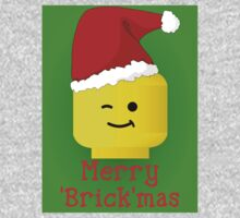 Merry Christmas Santa Minifig by Customize My Minifig One Piece - Long Sleeve