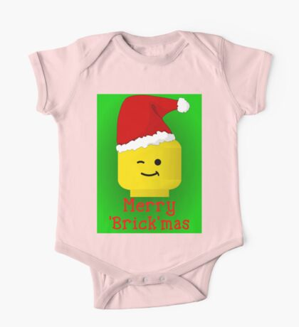 Merry Christmas Santa Minifig by Customize My Minifig One Piece - Short Sleeve