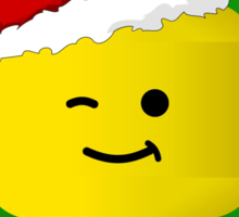 Merry Christmas Santa Minifig by Customize My Minifig Sticker