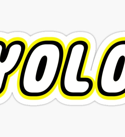 YOLO by Customize My Minifig Sticker