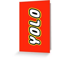 YOLO by Customize My Minifig Greeting Card