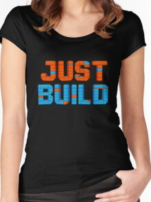 Just Build Women's Fitted Scoop T-Shirt