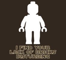 """I Find Your Lack of Bricks Disturbing"" by Customize My Minifig by Customize My Minifig"