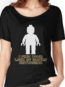 """""""I Find Your Lack of Bricks Disturbing"""" by Customize My Minifig Women's Relaxed Fit T-Shirt"""