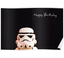 Trooper birthday card Poster
