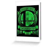 Smash Bro Swordfighter Greeting Card