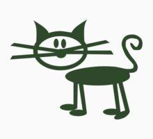 Green comic cat One Piece - Short Sleeve