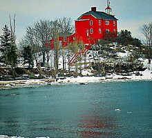 Marquette Harbor Lighthouse-Marquette, Michigan by Kathy Russell
