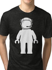 Banksy Style Astronaut Minifigure by Customize My Minifig Tri-blend T-Shirt