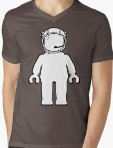 Banksy Style Astronaut Minifigure by Customize My Minifig Mens V-Neck T-Shirt