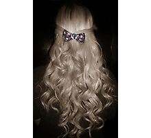 Curled Hair with Feminist Bow Photographic Print