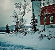 Eagle Harbor Light by Kathy Russell
