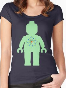 Minifig with Atom Symbol  Women's Fitted Scoop T-Shirt
