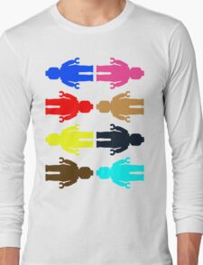 8 x Minifig Stickers  Long Sleeve T-Shirt