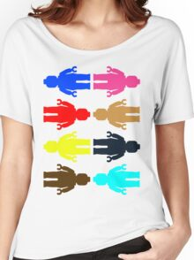 8 x Minifig Stickers  Women's Relaxed Fit T-Shirt