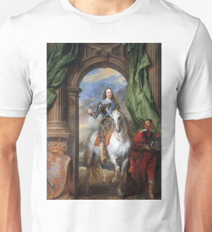 Anthony Van Dyck - Charles I With Monsieur De St Antoine Unisex T-Shirt