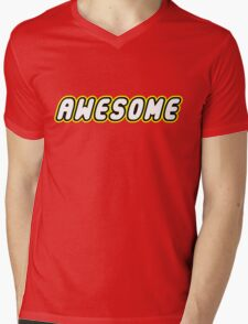 AWESOME by Customize My Minifig Mens V-Neck T-Shirt