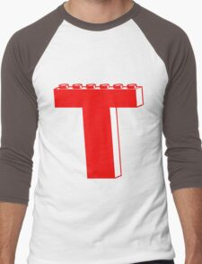 THE LETTER T by Customize My Minifig Men's Baseball ¾ T-Shirt